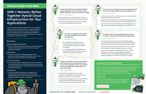 AMD + Nutanix: Better Together Hybrid Cloud Infrastructure for Your Applications Trail Map