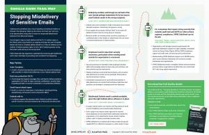 The Gorilla Guide To…® Stopping the Misdelivery of Sensitive Emails, Foundation Edition, Trail Map